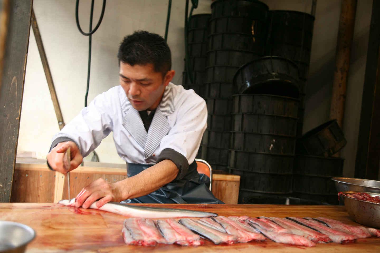 Unagi : couteau japonais pour préparer les anguilles