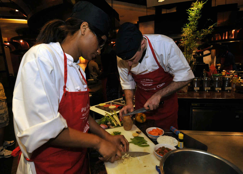 Couteau japonais pour travailler les légumes